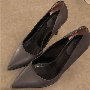 Fendi Grey Pumps with Wooden Heels Size 6